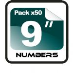 "9"" Race Numbers - 50 pack"